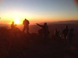 Fellow ACEAP members enjoying a sunset.